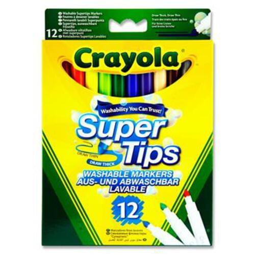 Crayola Pkt.12 Supertips Washable Markers