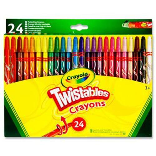 Crayola Pkt.24 Twistables Crayons