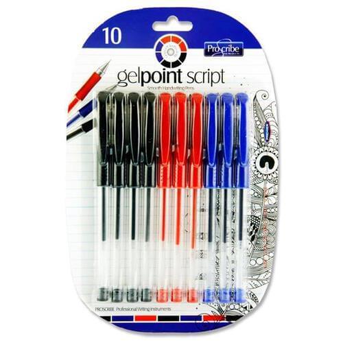 Proscribe Card 10 Gelpoint Script Gel Pens