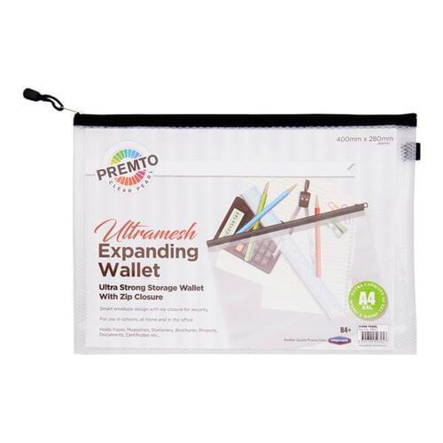 Premto A4 Xxl Ultramesh Expanding Wallet - Clear Pearl