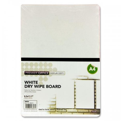 Office A4 Coloured Dry Wipe Board - White