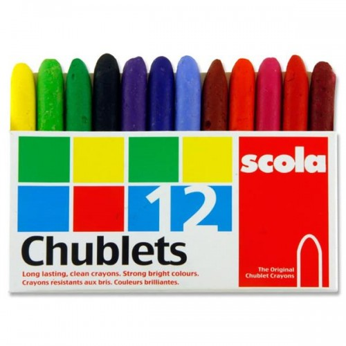 Chublet Crayons Pack of 12