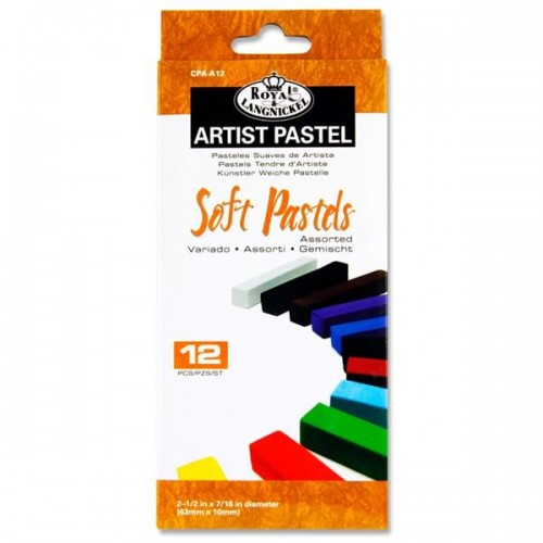Soft Pastels, assorted colours - Box of 12