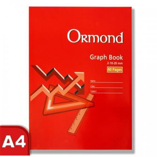 Ormonde A4 40pg Graph Book