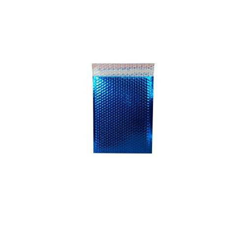 250x180 mm Dark Blue Metallic Matt Bubble Bag PK100