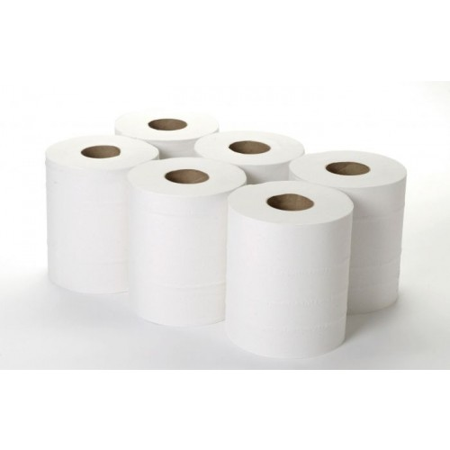 2 PLY CENTREFEED ROLL WHITE PACK6