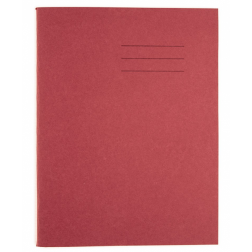 A4 SENIOR EXERCISE BOOKS 80 PAGE 8MM RULED & MARGIN IN RED PACK 50
