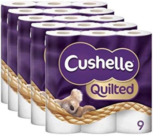 Cushelle 3-Ply Toilet Roll 9 X 5