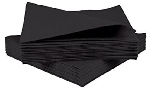 Black Dinner Napkin 40cm 60 per pack
