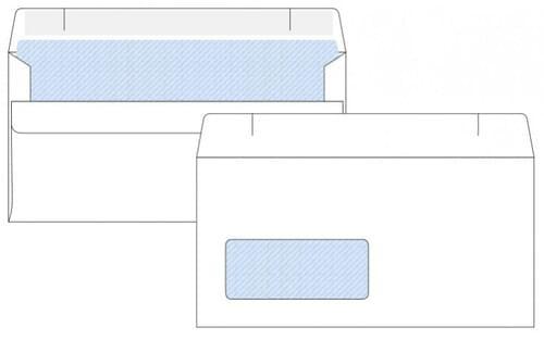 Tannas White Self Seal Envelope DL 110mmx220mm 80gm Window Boxed 1000