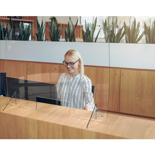 Unframed Protective Desk / Counter Screen 850 x 700