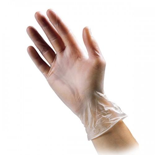 Powder-Free Clear Vinyl Examination Gloves Small (EN455)