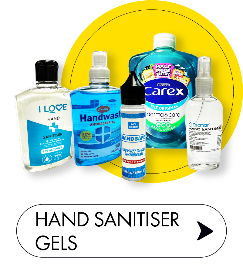 Sanitisers and Soap