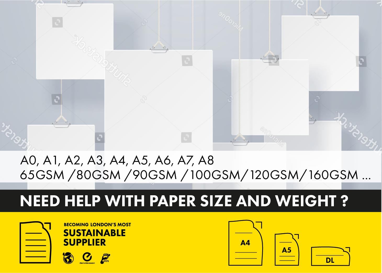 Paper Sizes Hero Banner