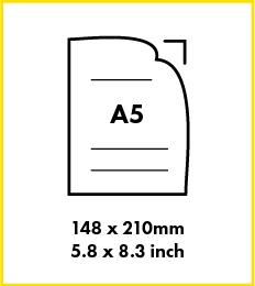 Paper A5 size