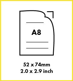 Paper A8 size