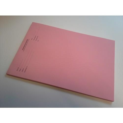 A4 Attendance Pad Pink Plain