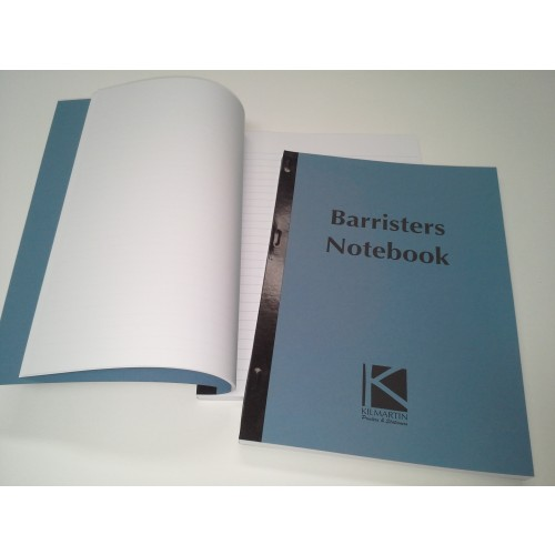 A4 Barrister Notebook Feint Ruled white Sheets