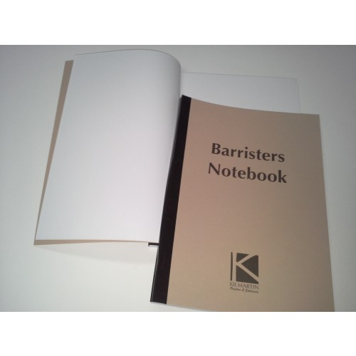 A4 Barrister Notebook Plain white Sheets