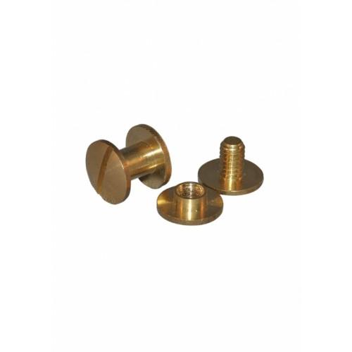 Brass Binding Screws 10mm , pack of 100
