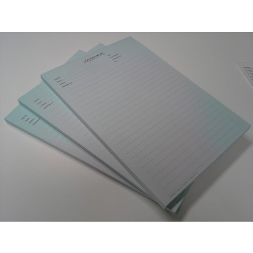 A4 Attendance Pad Blue Ruled