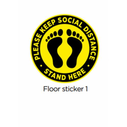 300mm Circular Floor Vinyl Sticker 1