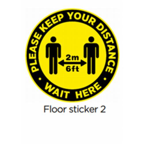 300mm Circular Floor Vinyl Sticker 2