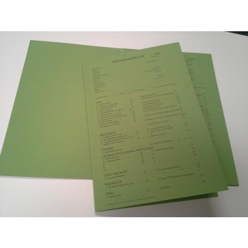 Purchase Agenda File Green