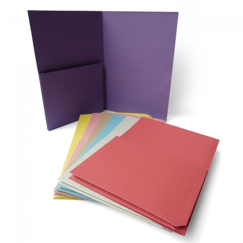 Single Upright Document Wallet Pink heavyweight  Folder SUP