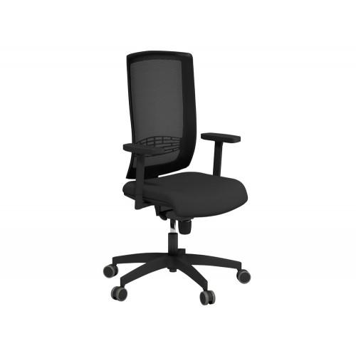 Begin Mesh High Backrest Black Swivel Chair with Black Nylon Base