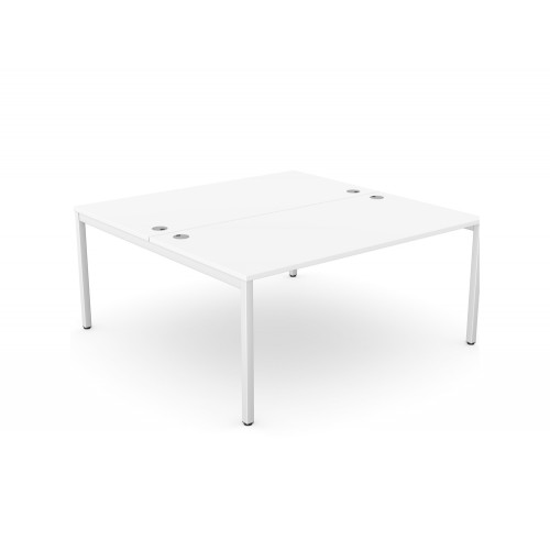 C-Sense 2 Person Bench Desk with Open Leg