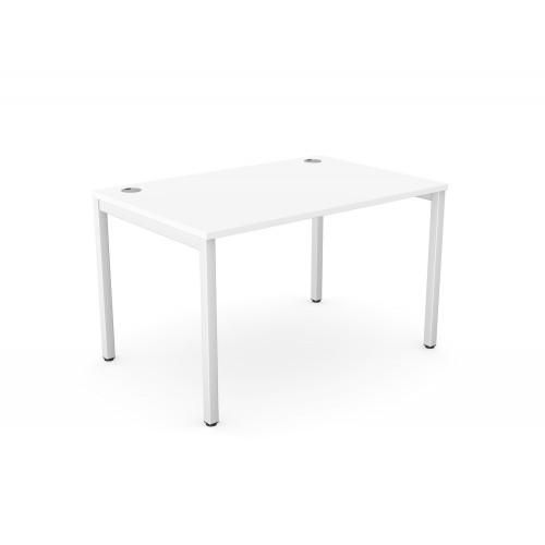 C-Sense Single Straight Desk with Metal Legs
