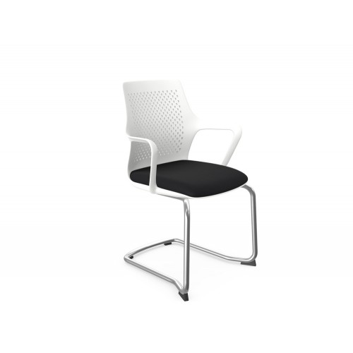 Gemina Meeting Chair with Chrome Cantilever Frame