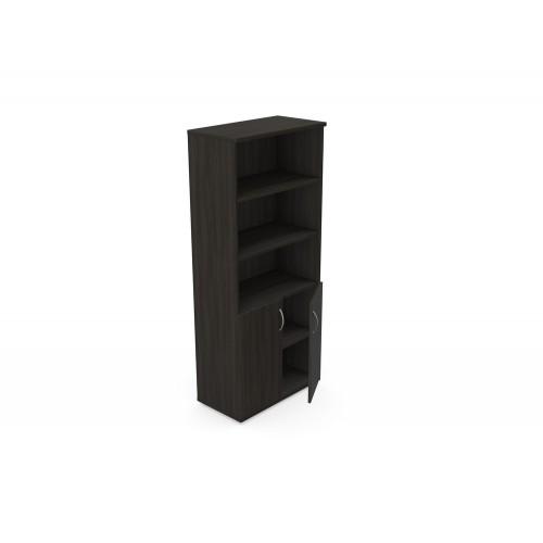 Kito Cupboard Part Open Storage with Bottom Lockable Doors