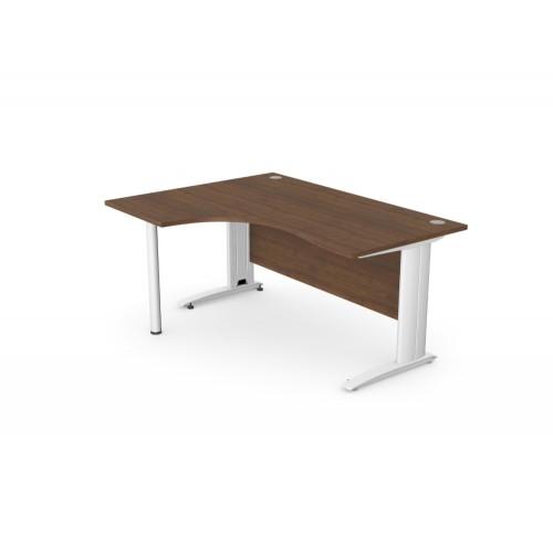 Komo Crescent Office Desk with Pole Leg