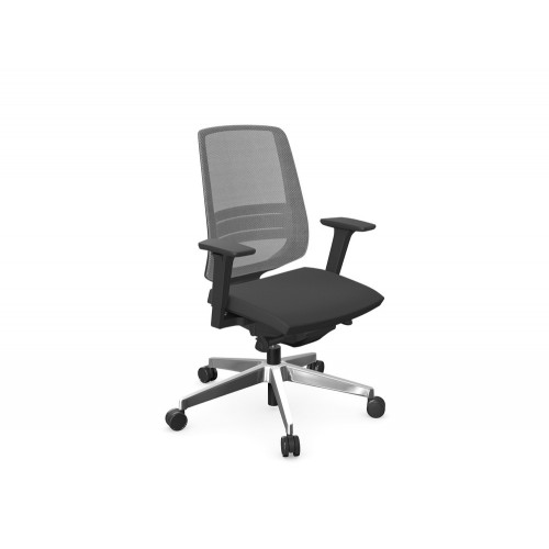 Profim LightUp Ergonomic Armchair with Mesh Backrest Black