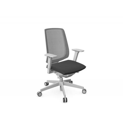 Profim LightUp Ergonomic Armchair with Mesh Backrest Light Grey