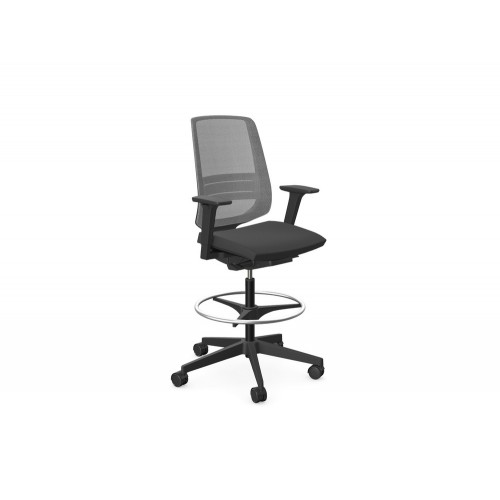 Profim LightUp Modern Mesh Backrest Office Chair with Adjustable Arms