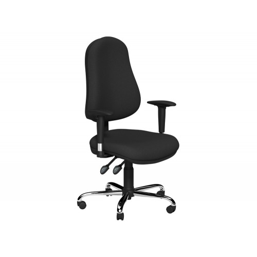 OE Multifunction Task Operator Chair with Chrome Arms