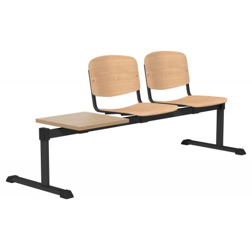 OI Series Bench with Table in Beech Wood