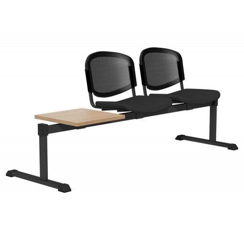 OI Series Bench with Table with Mesh Backrest