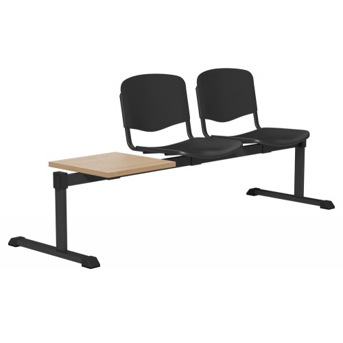 OI Series Bench with Table in Plastic Finish