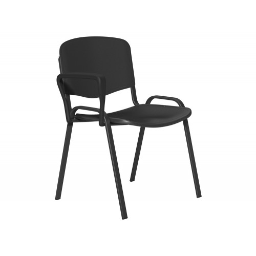 OI Series Plastic Seat and Backrest Chair with Black Frame
