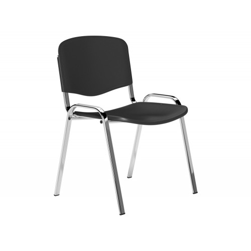 OI Series Plastic Seat and Backrest Chair with Chrome Frame