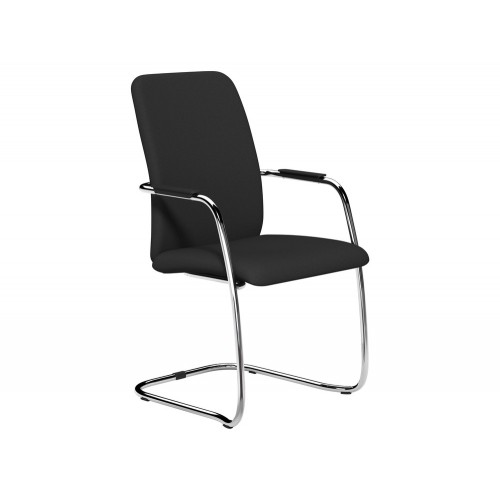OQ Series High Backrest Stacking Chair with Chrome Frame