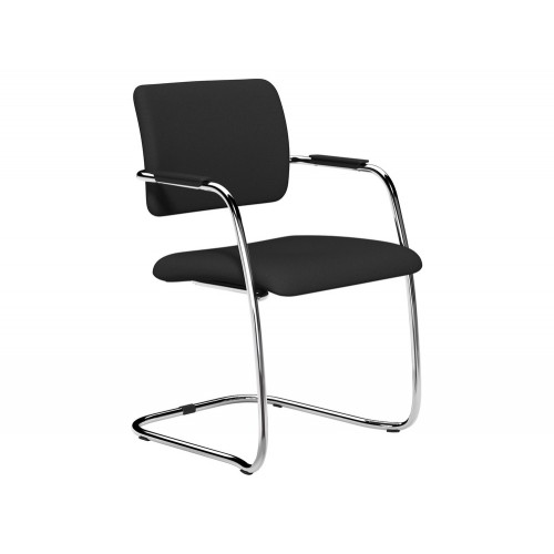 OQ Series Mid Backrest Stacking Chair with Chrome Frame