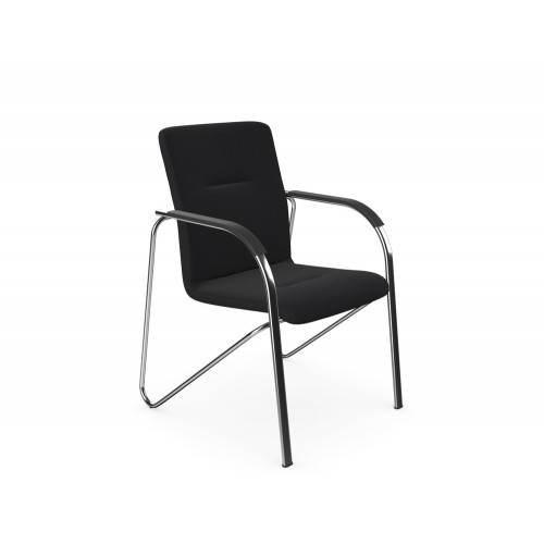 Sandy Boardroom Stacking Chair in Chrome Frame