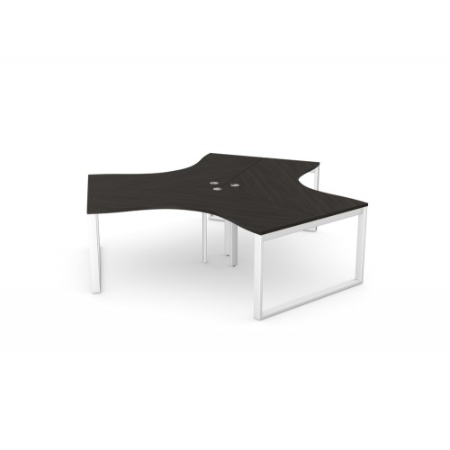 Switch 120 Degree 3 Person Bench with Closed Leg