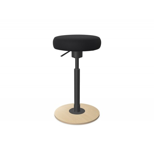 Work Stool with Fixed Wooden Base