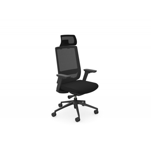 X.55 Ergonomic Chair with Mesh Backrest and Headrest